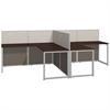 Easy Office 60W 2 Person L Desk Open Office in Mocha Cherry