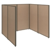 ProPanels Single Open Cubicle Office in Harvest Tan