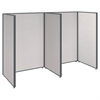 ProPanels 2 Person Open Cubicle Office in Light Grey