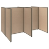 ProPanels 4 Person Open Cubicle Office in Harvest Tan