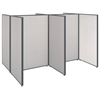 ProPanels 4 Person Open Cubicle Office in Light Grey
