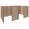 ProPanels 2 Person Closed Cubicle Office in Harvest Tan