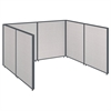 ProPanels Single Open Cubicle Office in Light Grey
