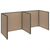 ProPanels 2 Person Open Cubicle Office in Harvest Tan