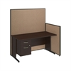60W C-Leg Desk with 3/4 Pedestal in Mocha Cherry and Harvest Tan ProPanels
