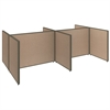 ProPanels 4 Person Open Cubicle Configuration in Harvest Tan