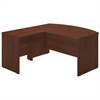 Bush Business Furniture Series C Elite 60W x 36D Bow Front Desk Shell with 30W Return in Hansen Cherry