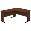 Bush Business Furniture Series C Elite 60W x 30D C Leg Bow Front Desk Shell with 36W Return in Hansen Cherry