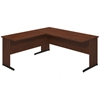 Bush Business Furniture Series C Elite 72W x 30D C Leg Desk with 42W Return in Hansen Cherry