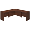 Bush Business Furniture Series C Elite 42W x 42D Corner Desk Shell with (2) 36W Returns in Hansen Cherry