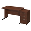 48W x 30D C Leg Desk with Storage in Hansen Cherry