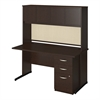Bush Business Furniture 60W x 30D C Leg Desk with Storage in Mocha Cherry