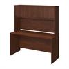 Bush Business Furniture Series C Elite 60W x 24D Desk Shell with Hutch in Hansen Cherry