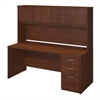Bush Business Furniture Series C Elite 72W x 30D Desk Shell with Storage in Hansen Cherry