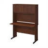 Bush Business Furniture Series C Elite 48W x 24D C Leg Desk with Hutch in Hansen Cherry