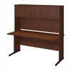 Series C Elite 66W x 30D C Leg Desk with Hutch in Hansen Cherry