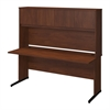 Bush Business Furniture Series C Elite 72W x 30D C Leg Desk with Hutch in Hansen Cherry