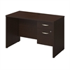 Series C Elite 48W x 24D Desk Shell with 3/4 Pedestal in Mocha Cherry