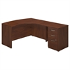 Series C Elite 60W x 43D Right Hand L Desk with Return and 3 Drawer Pedestal in Hansen Cherry