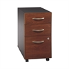 Series C Elite 3 Drawer Mobile Pedestal in Hansen Cherry