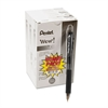 Pentel WOW! Retractable Ballpoint Pen, 1mm, Black Barrel, Black Ink, 36/Pack