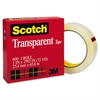 "Scotch Transparent Tape, 1"" x 2592"", 3"" Core, Clear"