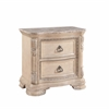 Riviera 2 Drawer Nightstand W/ Marble Top