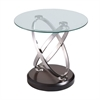 Vision Round End Table W/Glass Top