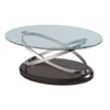 Vision Oval Cocktail Table W/Glass Top