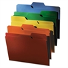 find It FindIt File Folders, 1/3 Cut, 11 Pt Stock, Letter, Assorted, 80/PK