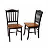 Shaker Chairs, set of 2, Black/Oak