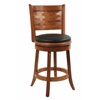 "24"" Sumatra Swivel Stool, Brush Oak"