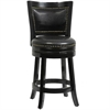 "24"" Bristol Swivel Stool, Black"