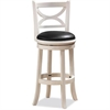 "24"" Florence Swivel Stool, Distressed White"