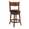 "24"" Palmetto Swivel Stool, Fruitwood"