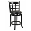 "24"" Kyoto Swivel Stool, Black"