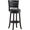 "24"" Augusta Swivel Stool, Black"