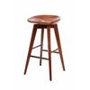 "29"" Bali Swivel Stool, Walnut"