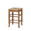 "24"" SQ Rush Stool, Oak"