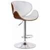 Osa Adjustable Swivel Stool, White