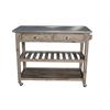 Sonoma Wire-brush Kitchen Cart