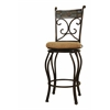 "24"" Beau Swivel Stool, Black/Gold"