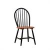 Farmhouse Chair, set of 2, Black/Cherry
