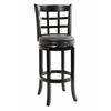 "29"" Kyoto Swivel Stool, Black"