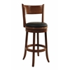 "29"" Palmetto Swivel Stool, Fruitwood"