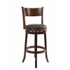 "29"" Palmetto Swivel Stool, Walnut"