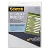 Scotch Display Pocket, Removable Interlocking Fasteners, Plastic, 8-1/2 x 11, Clear