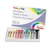 Pentel Oil Pastel Set With Carrying Case,12-Color Set, Assorted, 12/Set