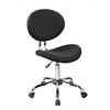 Office Supplies Bar Stools Fabric 360 Degree Swivel Chair, Jet Black
