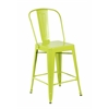 Set of 4 Metal Stacking Chairs, Matte Apple Green